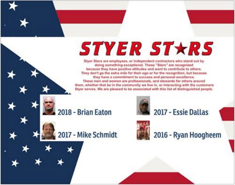 The March, 2018 Styer Newsletter