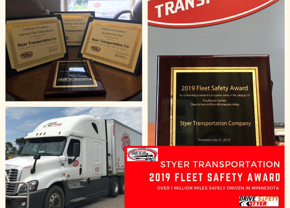 MTA 2019 Fleet Safety Award