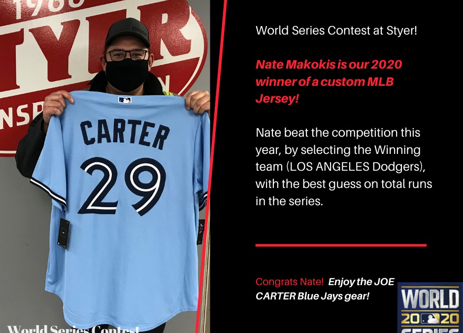 WORLD SERIES CONTEST WINNER!