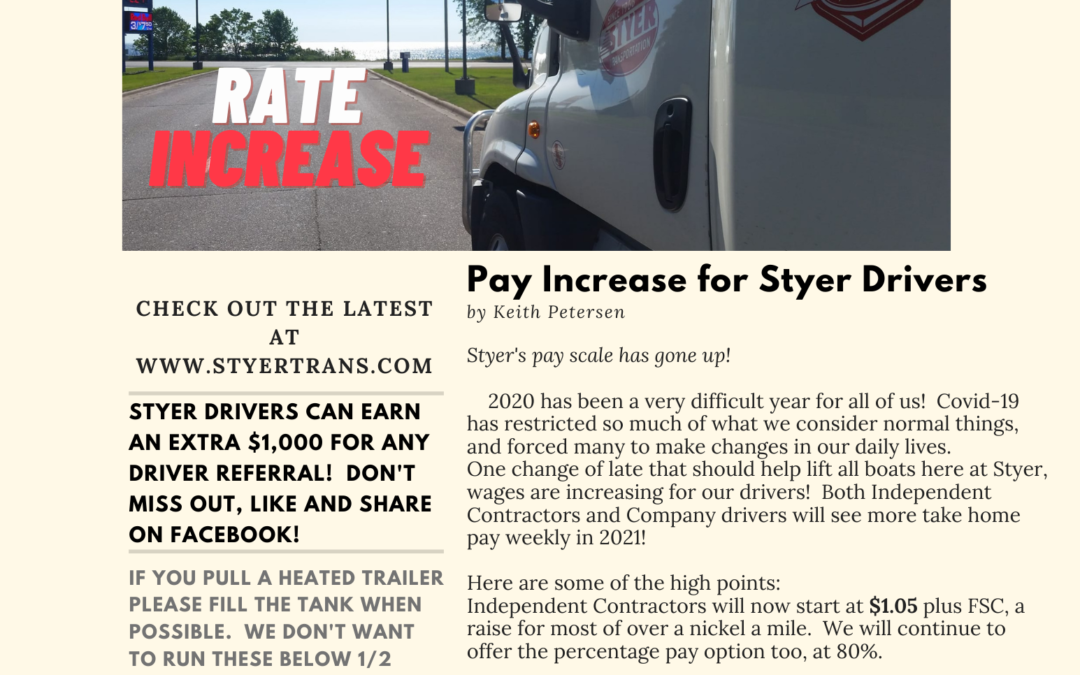 Styer Wire VOL 35 – Pay Increase!